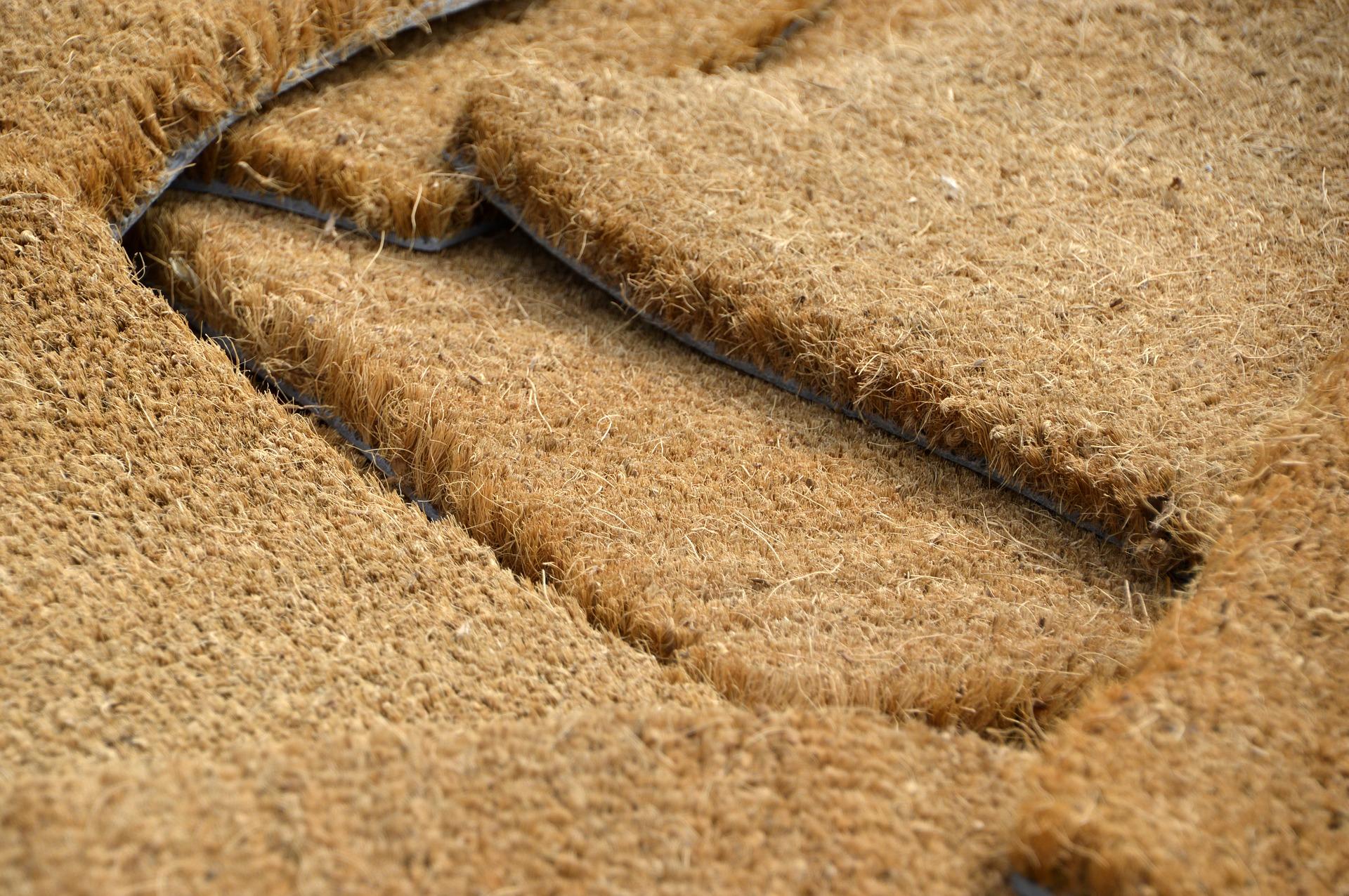 paillasson en fibre de coco, pouvant servir de tapis d'entrée